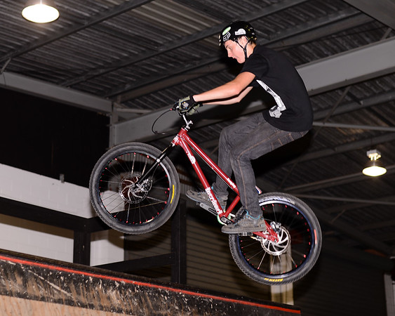 "Kyle Rolands - ExpressiveBikes - Inspired Bike Trials Expression Session 2013; Ride On Indoor Park, Coopers Plains, Brisbane, Queensland, Australia; 31 August 2013. Camera 1, Photos by Des Thureson - <a href=""http://disci.smugmug.com"">http://disci.smugmug.com</a>."