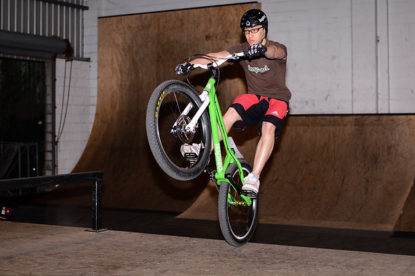 """Vinson Kang -  - ExpressiveBikes - Inspired Bike Trials Expression Session 2013; Ride On Indoor Park, Coopers Plains, Brisbane, Queensland, Australia; 31 August 2013. Camera 1, Photos by Des Thureson - <a href=""""http://disci.smugmug.com"""">http://disci.smugmug.com</a>."""