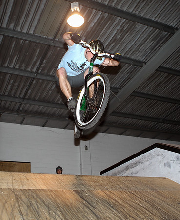 "Lewis Greenhalgh - ExpressiveBikes - Inspired Bike Trials Expression Session 2013; Ride On Indoor Park, Coopers Plains, Brisbane, Queensland, Australia; 31 August 2013. Camera 2, Photos by Des Thureson - <a href=""http://disci.smugmug.com"">http://disci.smugmug.com</a>."