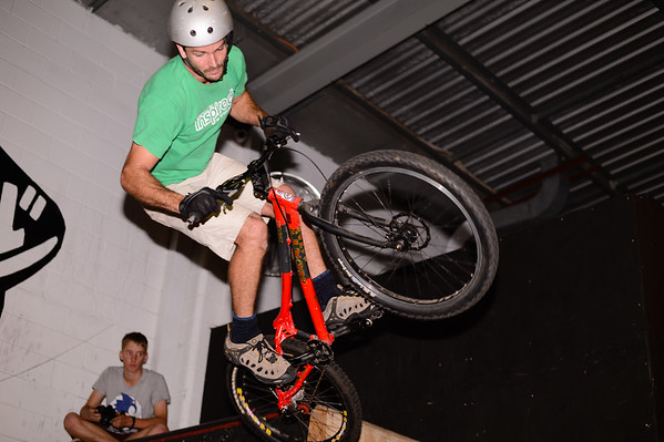"Adrian Turmine - ExpressiveBikes - Inspired Bike Trials Expression Session 2013; Ride On Indoor Park, Coopers Plains, Brisbane, Queensland, Australia; 31 August 2013. Camera 1, Photos by Des Thureson - <a href=""http://disci.smugmug.com"">http://disci.smugmug.com</a>."