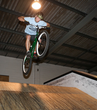 """Lewis Greenhalgh - ExpressiveBikes - Inspired Bike Trials Expression Session 2013; Ride On Indoor Park, Coopers Plains, Brisbane, Queensland, Australia; 31 August 2013. Camera 2, Photos by Des Thureson - <a href=""""http://disci.smugmug.com"""">http://disci.smugmug.com</a>."""