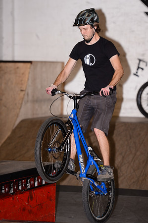 """Tim Mullaly - ExpressiveBikes - Inspired Bike Trials Expression Session 2013; Ride On Indoor Park, Coopers Plains, Brisbane, Queensland, Australia; 31 August 2013. Camera 1, Photos by Des Thureson - <a href=""""http://disci.smugmug.com"""">http://disci.smugmug.com</a>."""