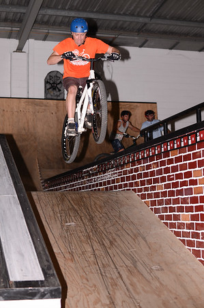 """Ben Croft - ExpressiveBikes - Inspired Bike Trials Expression Session 2013; Ride On Indoor Park, Coopers Plains, Brisbane, Queensland, Australia; 31 August 2013. Camera 1, Photos by Des Thureson - <a href=""""http://disci.smugmug.com"""">http://disci.smugmug.com</a>."""