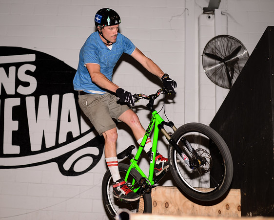 """Paul Cox - - ExpressiveBikes - Inspired Bike Trials Expression Session 2013; Ride On Indoor Park, Coopers Plains, Brisbane, Queensland, Australia; 31 August 2013. Camera 1, Photos by Des Thureson - <a href=""""http://disci.smugmug.com"""">http://disci.smugmug.com</a>."""