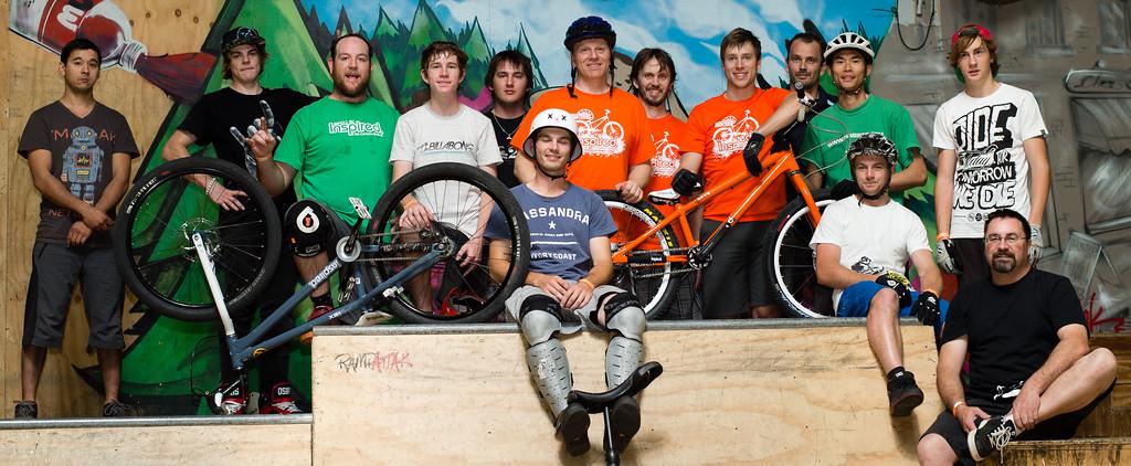 "The ExpressiveBikes.com / Inspired Team! - ExpressiveBikes - Inspired Trials Expression Weekend 2012; Geebung, Brisbane, Queensland, Australia; 01 September 2012. Camera 1, Photos by Des Thureson - <a href=""http://disci.smugmug.com"">http://disci.smugmug.com</a>."