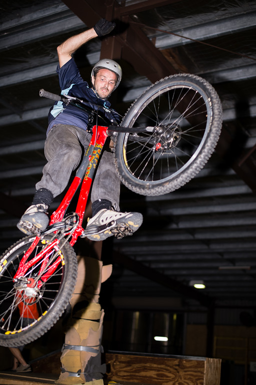 """Adrian Turmine - ExpressiveBikes - Inspired Trials Expression Weekend 2012; Geebung, Brisbane, Queensland, Australia; 01 September 2012. Camera 1, Photos by Des Thureson - <a href=""""http://disci.smugmug.com"""">http://disci.smugmug.com</a>.  - Aerial."""