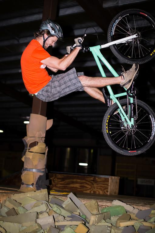 """Tim Mullaly - ExpressiveBikes - Inspired Trials Expression Weekend 2012; Geebung, Brisbane, Queensland, Australia; 01 September 2012. Camera 1, Photos by Des Thureson - <a href=""""http://disci.smugmug.com"""">http://disci.smugmug.com</a>.  - Aerial."""