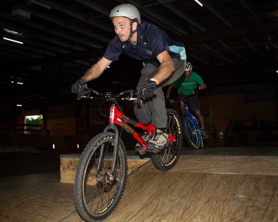 """Adrian Turmine - ExpressiveBikes - Inspired Trials Expression Weekend 2012; Geebung, Brisbane, Queensland, Australia; 01 September 2012. Camera 2, Photos by Des Thureson - <a href=""""http://disci.smugmug.com"""">http://disci.smugmug.com</a>."""