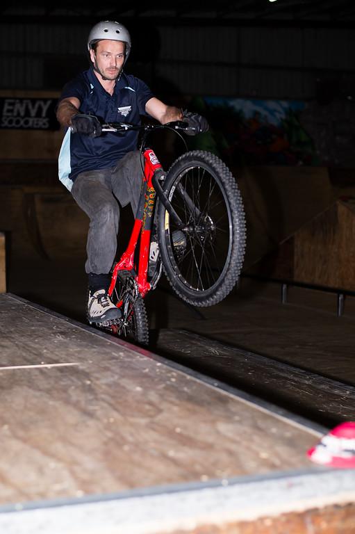 """Adrian Turmine - ExpressiveBikes - Inspired Trials Expression Weekend 2012; Geebung, Brisbane, Queensland, Australia; 01 September 2012. Camera 1, Photos by Des Thureson - <a href=""""http://disci.smugmug.com"""">http://disci.smugmug.com</a>."""