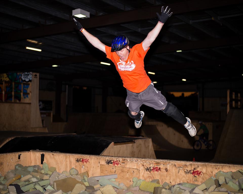 """Tony Leyland - ExpressiveBikes - Inspired Trials Expression Weekend 2012; Geebung, Brisbane, Queensland, Australia; 01 September 2012. Camera 1, Photos by Des Thureson - <a href=""""http://disci.smugmug.com"""">http://disci.smugmug.com</a>.  - Aerial."""