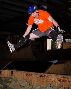 Tony Leyland - ExpressiveBikes - Inspired Trials Expression Weekend 2012; Geebung, Brisbane, Queensland, Australia; 01 September 2012. Camera 1, Photos by Des Thureson - http://disci.smugmug.com.  - Aerial.