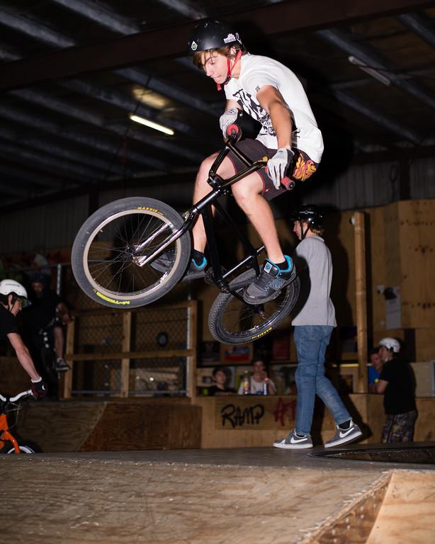 """Kyle Rolands - ExpressiveBikes - Inspired Trials Expression Weekend 2012; Geebung, Brisbane, Queensland, Australia; 01 September 2012. Camera 1, Photos by Des Thureson - <a href=""""http://disci.smugmug.com"""">http://disci.smugmug.com</a>.  - Aerial."""