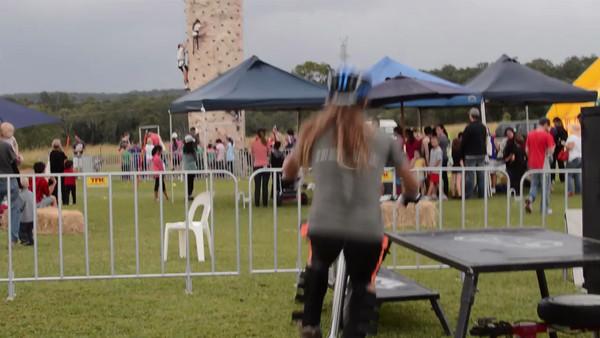 "Expressivebikes Bike Trials Demo Team at the Logan Eco Action Festival (""LEAF""); Griffith University, Logan Campus, Meadowbrook, Logan City, Queensland, Australia. Sunday 2 June 2013. Photos by Des Thureson"