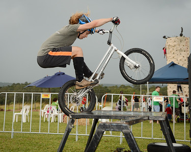 "Expressivebikes.com Bike Trials Demo Team at the Logan Eco Action Festival (""LEAF""), Griffith University, Logan Campus, Meadowbrook, Logan City, Queensland, Australia. Camera 1. Photos by Des Thureson - http://disci.smugmug.com."