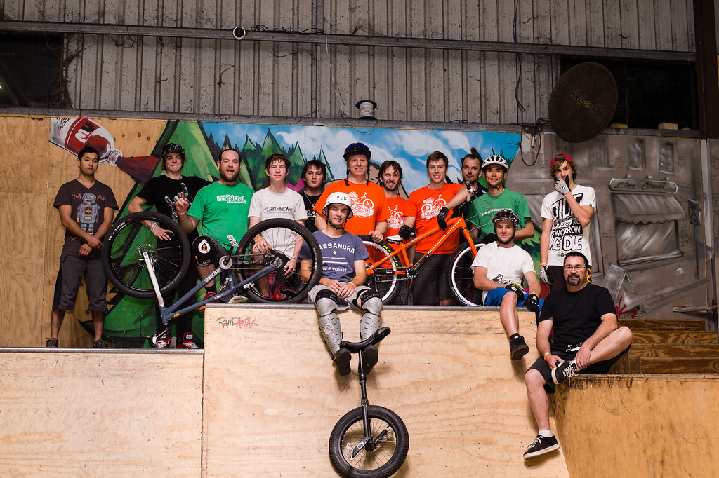 """The Team! - ExpressiveBikes - Inspired Trials Expression Weekend 2012; Geebung, Brisbane, Queensland, Australia; 01 September 2012. Camera 1, Photos by Des Thureson - <a href=""""http://disci.smugmug.com"""">http://disci.smugmug.com</a>.  - Unedited Image. - The images in this gallery have not been edited / cropped. If you order a print, these images will be edited / corrected / cropped before being printed. (If you wish to purchase a download, you can either:  1. Purchase the image 'as is', or 2. Email me and ask me to edit the image prior to your purchase.) Des."""