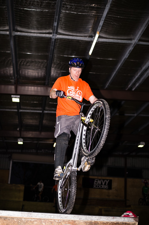"""Tony Leyland - ExpressiveBikes - Inspired Trials Expression Weekend 2012; Geebung, Brisbane, Queensland, Australia; 01 September 2012. Camera 1, Photos by Des Thureson - <a href=""""http://disci.smugmug.com"""">http://disci.smugmug.com</a>.  - Unedited Image. - The images in this gallery have not been edited / cropped. If you order a print, these images will be edited / corrected / cropped before being printed. (If you wish to purchase a download, you can either:  1. Purchase the image 'as is', or 2. Email me and ask me to edit the image prior to your purchase.) Des."""