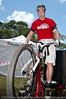 Lewis Greenhalgh - Expressivebikes.com bike trials demo team at the 2010 Noosa Triathlon Multi Sport Festival, 30 October 2010. Noosa Heads, Sunshine Coast, Queensland, Australia.