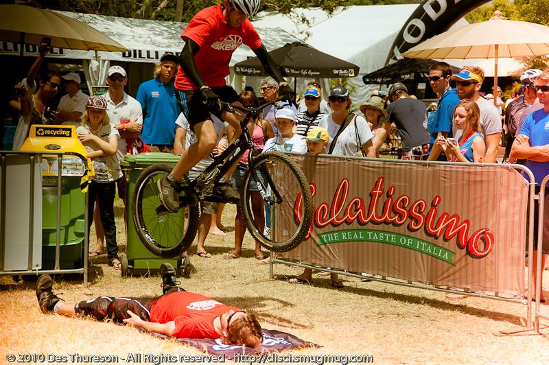 "Borys Zagrocki - Expressivebikes.com bike trials demo team at the 2010 Noosa Triathlon Multi Sport Festival, 30 October 2010. Noosa Heads, Sunshine Coast, Queensland, Australia.  Alternate Processing: LR Preset: ""Expiration""."