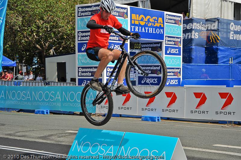 Borys Zagrocki - Expressivebikes.com bike trials demo team at the 2010 Noosa Triathlon Multi Sport Festival, 30 October 2010. Noosa Heads, Sunshine Coast, Queensland, Australia.
