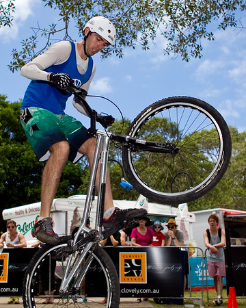 Expressivebikes.com Bike Trials Demo Team at the Noosa Triathlon Expo & Super Saturday, Noosa Heads, Sunshine Coast, Queensland, Australia