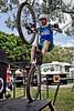 "Alternate Processing: ""Dave Hill Temp"" - Borys Zagrocki - 2011 Expressivebikes.com Bike Trials Demo Team at the Noosa Triathlon Multi Sport Festival Expo, Noosa Heads, Sunshine Coast, Queensland, Australia; 29 October 2011."