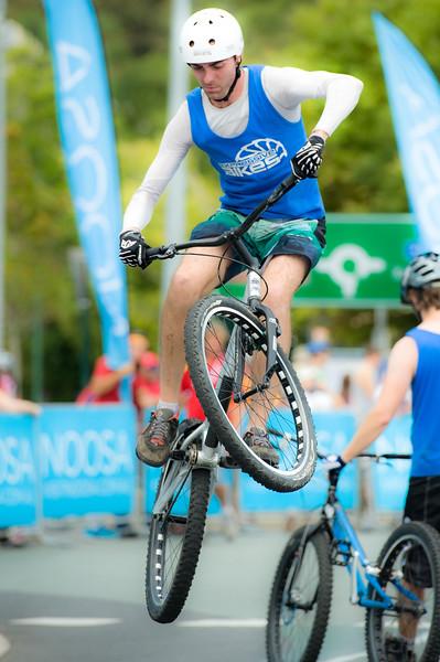 "Alternate Processing: ""PH Soft & Dreamy"" - Borys Zagrocki - ExpressiveBikes Bike Trials Demo Team - Super Saturday at the Noosa Triathlon Multi Sport Festival, Noosa Heads, Sunshine Coast, Queensland, Australia; 29 October 2011."