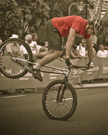 "Alternate Processing: ""Matt's 300 Look - Strong"" - Lewis Greenhalgh - ExpressiveBikes Bike Trials Demo Team - Super Saturday at the Noosa Triathlon Multi Sport Festival, Noosa Heads, Sunshine Coast, Queensland, Australia; 29 October 2011."