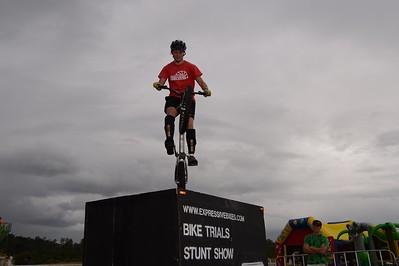 "Expressivebikes.com Bike Trials Demo Team at the Logan Eco Action Festival (""LEAF""), Griffith University, Logan Campus, Meadowbrook, Logan City, Queensland, Australia. Camera 1. Photos by Des Thureson - http://disci.smugmug.com."