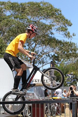 "ExpressiveBikes Bike Trials Stunt Team - 2013 Super Saturday at the Noosa Triathlon Multi Sport Festival, Noosa Heads, Sunshine Coast, Queensland, Australia. Camera 2. Photos by Des Thureson - <a href=""http://disci.smugmug.com"">http://disci.smugmug.com</a>"