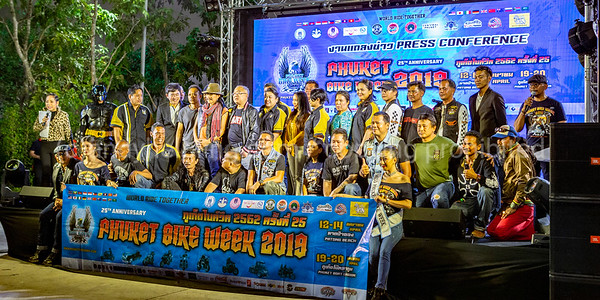 25th Phuket Bike Week 2019 Press event 22. March