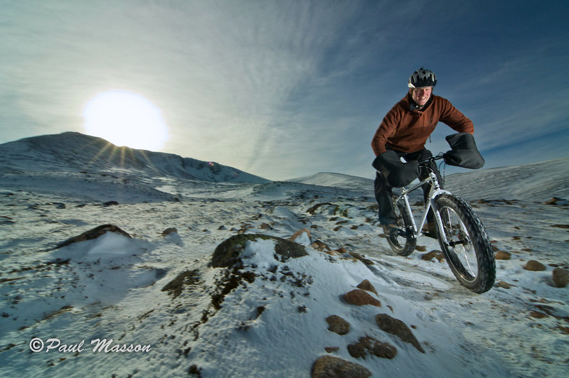 up in the snow with two local riders and their 'fat bikes' 1 x sb800 camera left, half power, sb900 camera right, full power. Fighting the ambient but didn't want fast shutter speeds to kill all sense of movement.