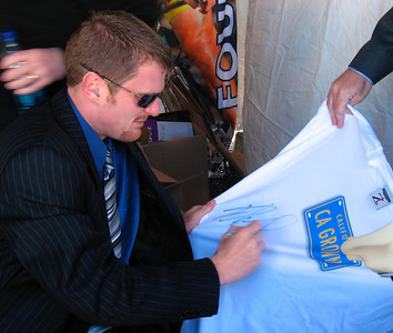 Autograph of Floyd Landis on my T-shirt