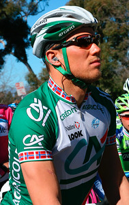 Rider from the French team, Credit Agricole http://www.au-veloclubdeparis.fr/