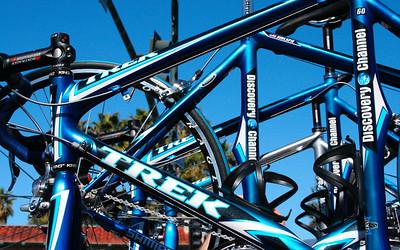 Trek bikes (you can see Hincapie's)