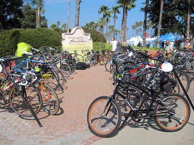 Bike valet provided by the Santa Barbara Bicycle Coalition