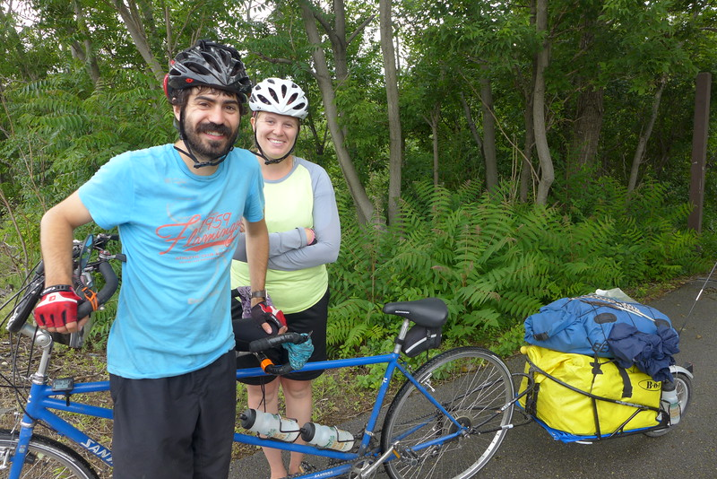 Bill and Enna from Winchester, VA, Riding from Bar Harbor to Washington state on a tandem
