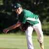 Lowell vs Billerica in Northeast League summer baseball. Billerica starting pitcher Max May (24). (SUN/Julia Malakie)
