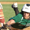 Lowell vs Billerica in Northeast League summer baseball. Billerica's Zach Dancewitz (20) dives back safely to first in the top of the fourth inning. (SUN/Julia Malakie)