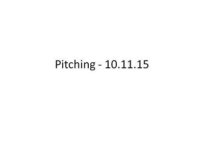Pitching - 10