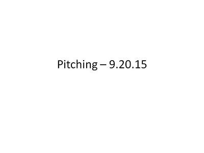 Pitching – 9