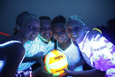 Jackson Township Parks and Recreation held its second, black light volleyball tournament for girls grades 6-9 on Friday, July 30, 2009, Ohio. Photo By LewStamp, PhotoStamp@sbcglobal.net