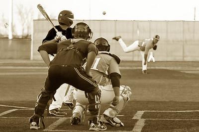 Black and White Baseball