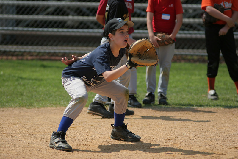 Ian working on the skills of a catcher