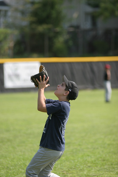 Ian catches a fly ball