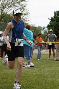 Carrie on the run course