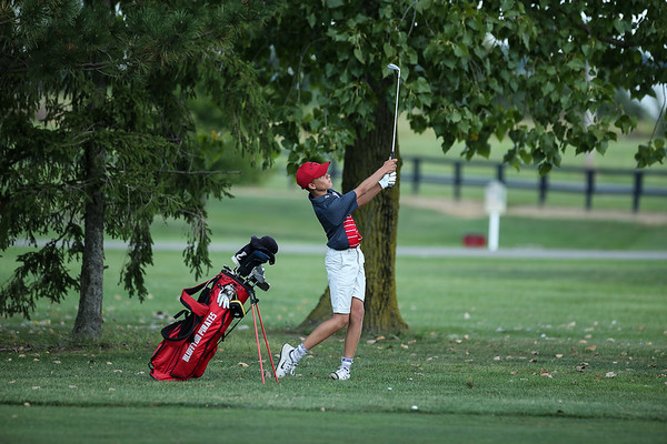Cole Koenig in earlier match action (by Marv Foster)