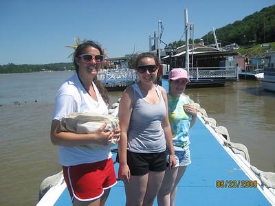 09 06 23  Boating - Sharon Aling, Missy Glazer, Jill Glazer