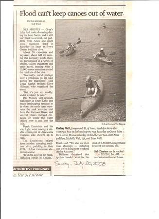 2008 Iowa Games Canoe & Kayak Races