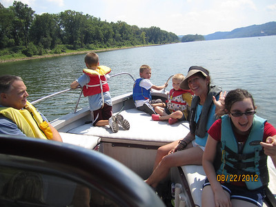 Boating on the Ohio River with Jody & Steve Prunier and Family, August 22, 2012
