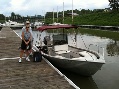 Boating on the Ohio River with Pam & Larry Faust, August 5, 2012
